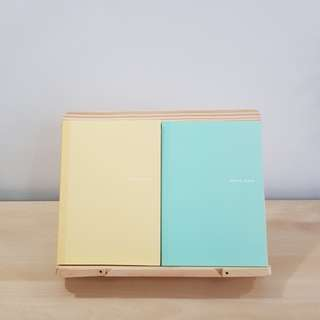 < brand new instock > a5 size lined notebook in mint and yellow