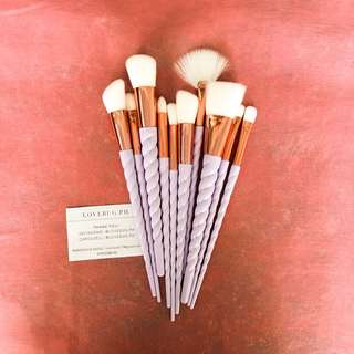 10 pieces unicorn makeup brushes