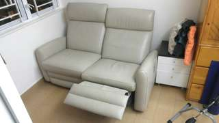 茲曼尼全皮真皮電鉸梳化Giormani Full Leather Recliner Sofa
