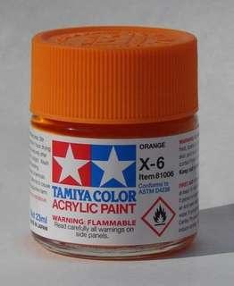 Tamiya X-6 Orange Acrylic Paint