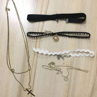 Assorted Chokers and Necklaces