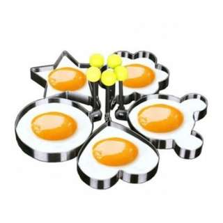 Set of 5 Stainless steel Cute Shaped Fried Egg Kitchen Tool