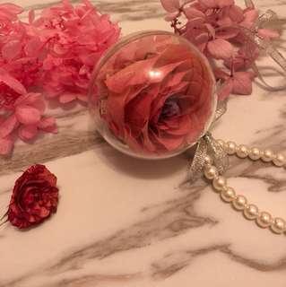 永生花 鎖匙扣 保鮮花 麗乾花