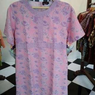 Dress Pink Batik Tulis Halus