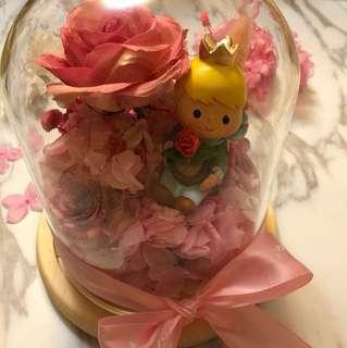 永生花 麗乾花 保鮮花 玻璃瓶