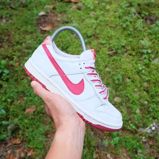 Nike, Dunk Low White/Red/Sunblush