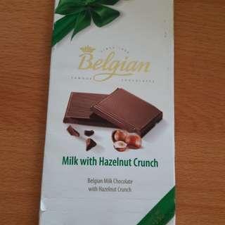 New Coklat Belgian Milk n Hazelnut Crunch (Beli di Bandara Sg)