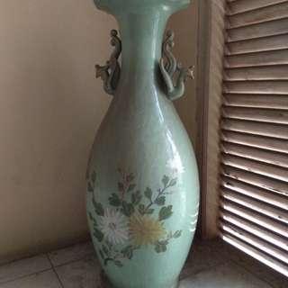 Guci Bunga Antik Asli Cina Tinggi 90 Cm..