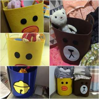 Cute cartoon children's toys storage home storage