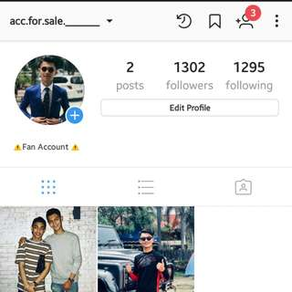 Akaun Instagram 1.3k Followers Account