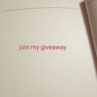 My giveaway is still open