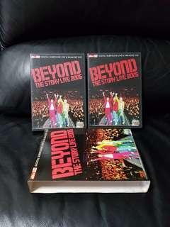 3 × Disc Autographed Beyond The Story Live 2005 DVDs