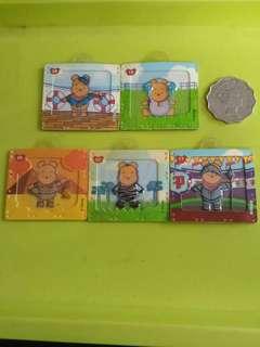 包郵 小熊維尼 WINNE THE POOH 7-11 磁貼 x 5個