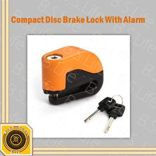 Motorbike Bicycle Scooter Disc Brake Lock With Alarm