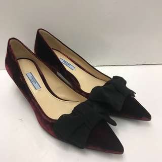 Prada Velvet High Heel