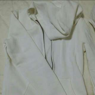 Sweatshirt with Hood White Size Small Brand New