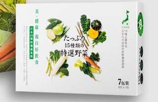 「日本15特選野菜粉」7天旅行裝