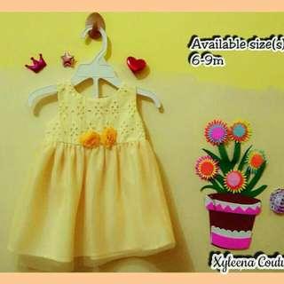 Baby Girl Yellow Summer Dress