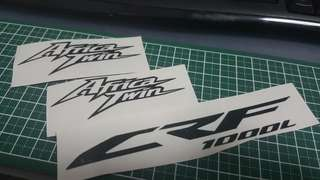 CRF1000l Africa Twin black sticker set
