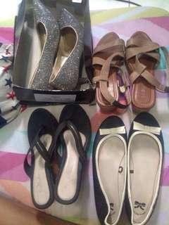 Flatshoes heels wedges