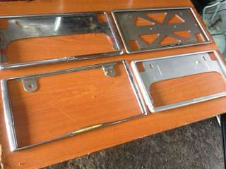frame plate number toyota