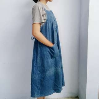 dress overall jeans