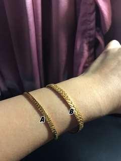 Gelang emas (gold bracelet 24K)