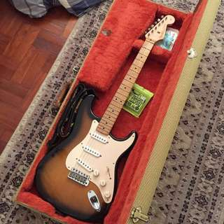 Made in USA 1957 Vintage Reissue Stratocaster (22 years old-semi vintage) + Kinman Woodstock Plus Strat Pickups