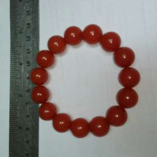 SOUTH RED AGATE BEADS - Bracelet