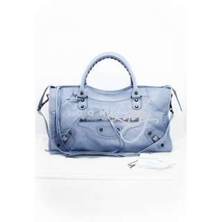 BALENCIAGA 168028 CLASSIC PART TIME 粉紫藍色 (Nuage) 手提袋 肩背袋 手袋