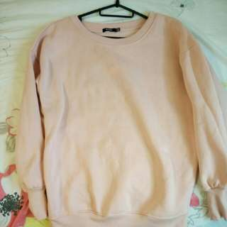Light pink bershka pullover