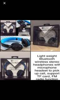🎧🎧New launch 2017 Blueteooth Intone BT-06 Wireless (Latest Bluetooth V4.0) Steureo Headphones with Microphone Headset to pick up call, Support TF Card, FM Radio Function, light wuyyeight @ offer price $48.90 (Retail price: $88.00)🎧🎧