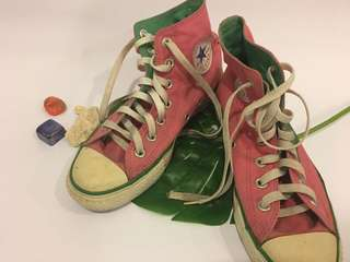 Converse High Cut Pink and Green (Original)