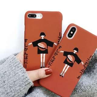 #手機殼IPhone6/7/8/plus/X : 日風壽司女生(上下不包邊)