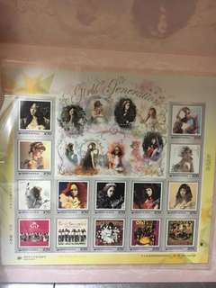超低價 絕版 少女時代郵票 Girls' Generation Stamps Limited Edition