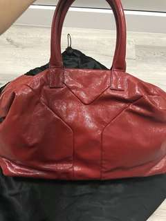 YSL duffle bag in maroon