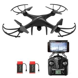 AMZtronics Drone With Camera A15W 2.4Ghz Wireless FPV RC Quadcopter With Altitude Hold Function