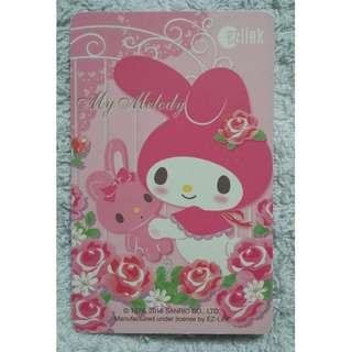 "Sanrio ""My Melody"" with Rabbit Stuffed Toy EZ-Link Card (Used)"