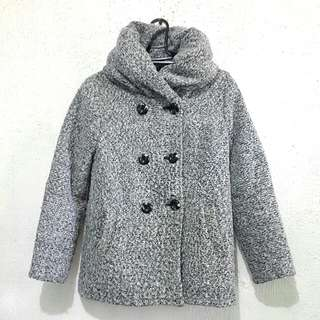 WINTER JACKET wool with puffed collar