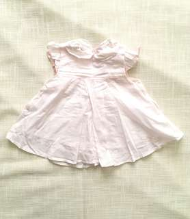 Charity Sale! Authentic Japetto Baby Girl Soft Pink Dress Size 6-9 Months Pleeted