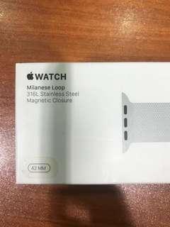 Apple Watch Milanese Loop in stainless steel 42mm