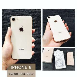 Iphone 8 256 GB Rose Gold LENGKAP