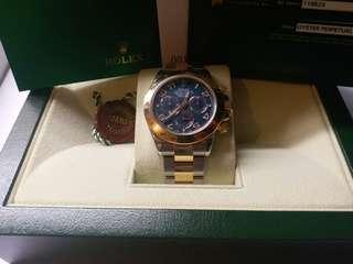 (Sold)勞力士 Rolex 116523 Daytona 數字藍面卡