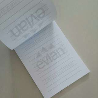 Brand New evian Note Book / Memo Paper Pad