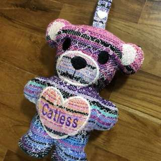 Custom made keepsake bear with strap