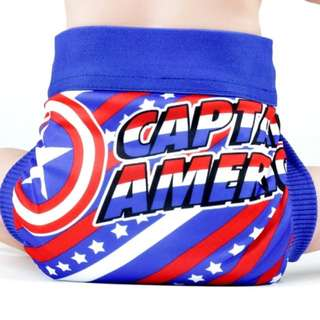 Preorder: captain America cloth diaper cover