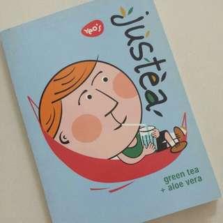 FREE NM📬Brand New Yeo's Justea Note Book / Memo Pad