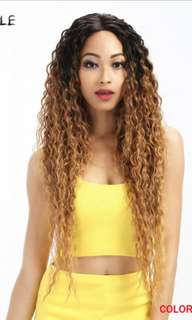 BN Curly Ombre Wig Brown Black Lace front
