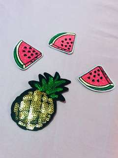 Tropical Fruits Patches