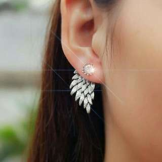 SALE - Anting- Retro Three Dimensional Angel Wings Stud